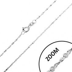Verižica iz srebra 925 –zavita linija, spiralno združeni členi, širina 1,2 mm, dolžina 550 mm