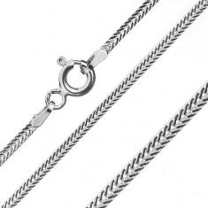 Verižica iz srebra čistine 925 - sploščeni poševni členi, širina 1,6 mm, dolžina 550 mm