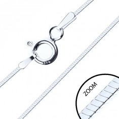 Tanka kvadratna verižica, srebro čistine 925, širina 0,6 mm, dolžina 500 mm