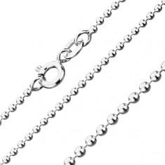 Verižica iz srebra čistine 925 - vojaške perlice, širina 1,5 mm, dolžina 550 mm