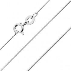 Zaobljena verižica v podobi kače, srebro čistine 925, širina 0,8 mm, dolžina 500 mm