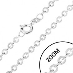 Verižica iz srebra čistine 925 s spiralnim učinkom, širina 1,2 mm, dolžina 600 mm