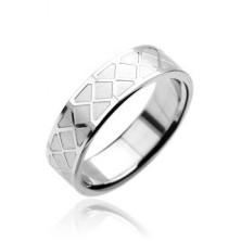 Prstan iz nerjavečega jekla - vzorec mozaika