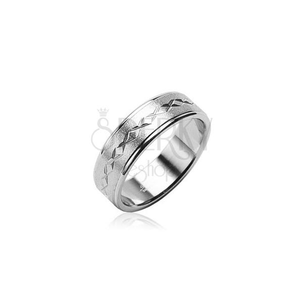 Mat prstan iz kirurškega jekla, zvezde