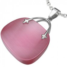 Ženski obesek roza torbica