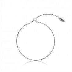 "925 srebrna zapestnica, premična - kačja verižica, ovalna ploščica z napisom ""FRIENDS"""