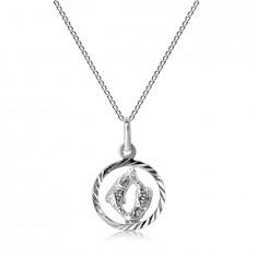 Srebrna ogrlica 925 - verižica in znak RIBI
