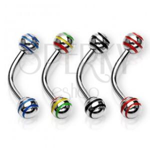 Piercing za obrvi s kroglico s tremi črtami