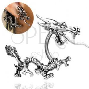 Piercing za uho - kitajski ognjeni zmaj