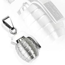 Obesek iz nerjavečega jekla - ročna granata