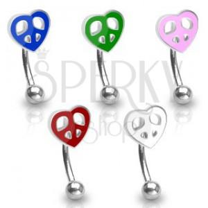 Piercing za obrvi - barvno srce