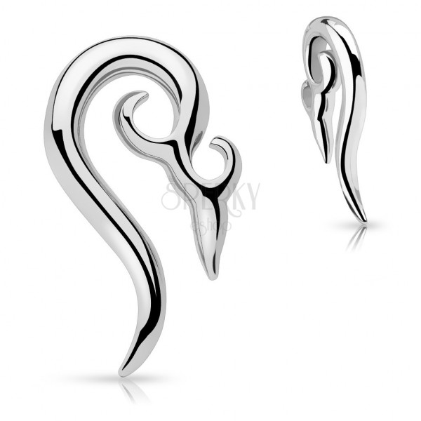 Piercing za uho iz nerjavečega jekla - okrasna spirala
