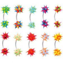 Obroček za obrvi s silikonskim barvnim ježkom