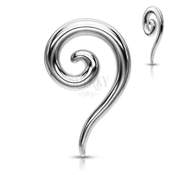 Jeklen piercing za uho - sijoč spiralen razširjevalnik