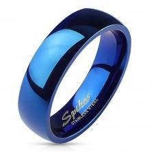 Moder poročni prstan visokega sijaja