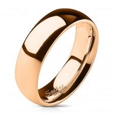 Obroček iz nerjavečega jekla - rožnato zlata barva - 6 mm