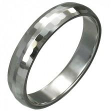 Volframov prstan s finimi brušenimi pravokotniki, 3 mm