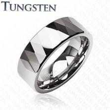Volframov prstan - sijoči rombi in trikotniki, srebrne barve
