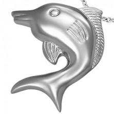 Velik obesek z delfinom iz nerjavečega jekla