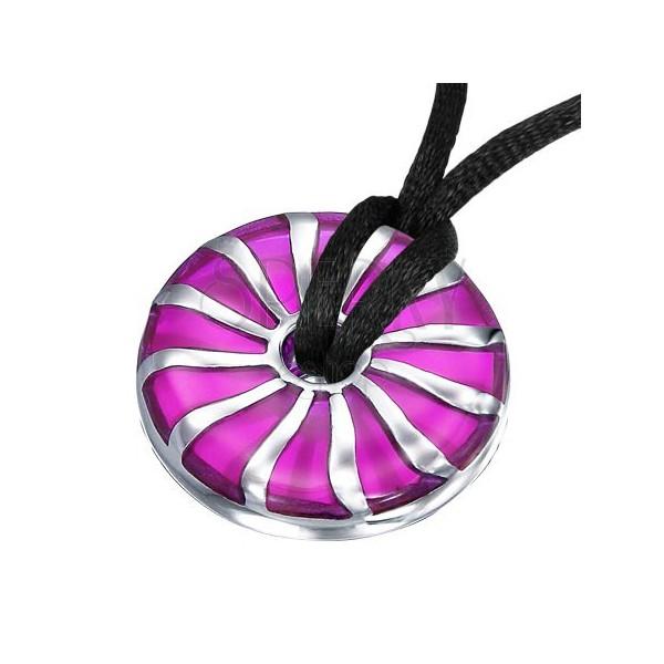 Vijoličast jeklen obesek z luknjo na sredini