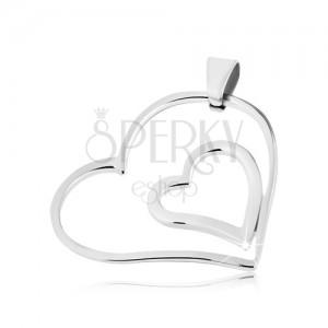 Obesek iz kirurškega jekla - dvojno združeno srce