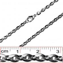 Verižica iz jekla - ovalni sploščeni členi, 4.5 mm