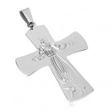Obesek iz kirurškega jekla, Jezus na križu, srebrne barve