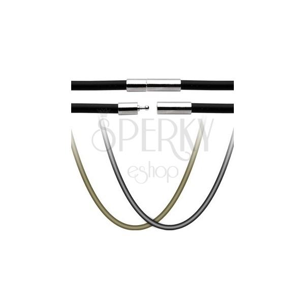 Gumijasta ogrlica - zapiralo iz nerjavečega jekla