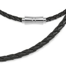 Usnjena vrvica iz prepletenih paščkov z magnetno zaponko
