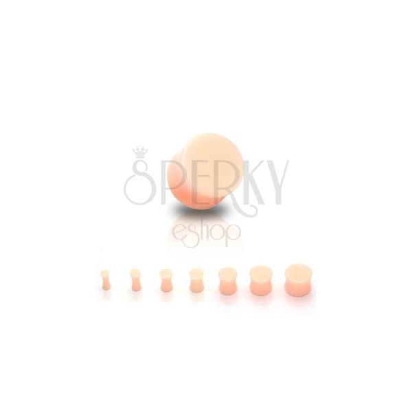 Marmoren UV-vstavek za uho, sedlast, barva kože
